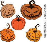 set of gothic hand painted...   Shutterstock .eps vector #220364635