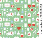 seamless pattern of medical and ... | Shutterstock .eps vector #220373254