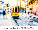 tram moving in the city center | Shutterstock . vector #220374655