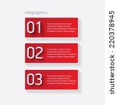 red modern paper banners set  ...   Shutterstock .eps vector #220378945