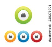 colorful round baggage icons