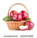 red apples in a basket | Shutterstock . vector #220393384