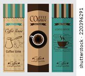 collection of coffee design... | Shutterstock .eps vector #220396291