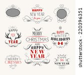 christmas decoration set of... | Shutterstock .eps vector #220396351