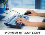work use mouse computer | Shutterstock . vector #220412395