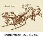 Santa Claus Reindeer Sleigh...