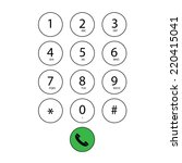 Vector Flat Keypad For Phone