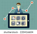 expert of search engine... | Shutterstock .eps vector #220416604