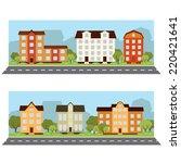 urban landscape. vector banner... | Shutterstock .eps vector #220421641