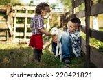 Children Feeding Little Lamb I...