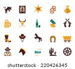large set of colored western...   Shutterstock .eps vector #220426345