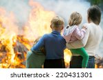 family mother with children at... | Shutterstock . vector #220431301