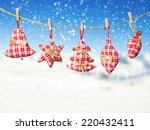 hand made cloth decoration... | Shutterstock . vector #220432411