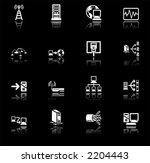 Network Computing Icons Series Set.  A series of icons relating to computer networks. - stock vector