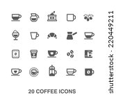 coffee icons set. | Shutterstock .eps vector #220449211