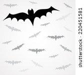 set of vector black vampire... | Shutterstock .eps vector #220451581