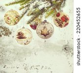 christmas baubles made by... | Shutterstock . vector #220452655