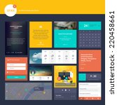 set of flat design elements for ...