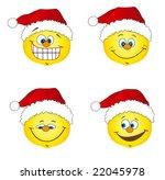 cheerful christmas santa smile... | Shutterstock . vector #22045978