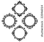 set of vintage circle frames | Shutterstock .eps vector #22046014