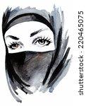 Woman Head. Eastern Woman Face...
