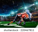 american football player in... | Shutterstock . vector #220467811