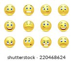vector set beautiful smiles | Shutterstock .eps vector #220468624