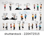 business people with speech... | Shutterstock .eps vector #220472515