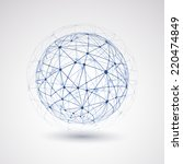 networks   globe design | Shutterstock .eps vector #220474849