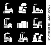 factory and power plants icon... | Shutterstock . vector #220480477
