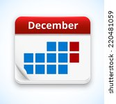 vector red calendar icon with...
