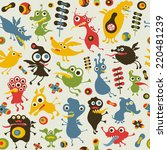 colorful seamless pattern with...