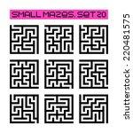 small mazes set 20 | Shutterstock . vector #220481575