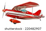 biplane isolated. clipping path ...