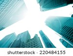 the tops of skyscrapers against ... | Shutterstock . vector #220484155