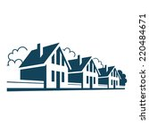 vector icon of houses. logo... | Shutterstock .eps vector #220484671