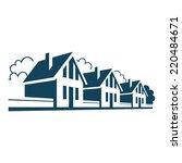 vector icon of houses. logo... | Shutterstock .eps vector #220484671