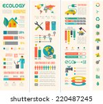 ecology infographic template. | Shutterstock .eps vector #220487245