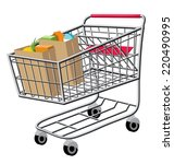 an illustration of a shopping... | Shutterstock .eps vector #220490995