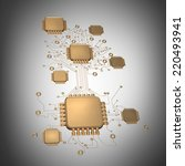 3d collection of gold objects.... | Shutterstock . vector #220493941
