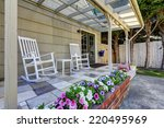 Walkout Patio Area With White...