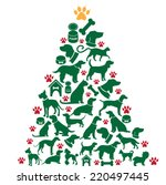 Cartoon Dogs And Cats Christma...