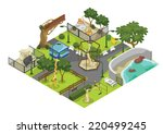 illustration of a zoo | Shutterstock .eps vector #220499245