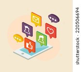 mobile internet concept  vector ... | Shutterstock .eps vector #220506694
