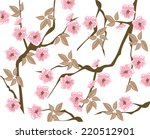vector blooming cherry... | Shutterstock .eps vector #220512901