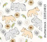 sweet babies doodle seamless... | Shutterstock .eps vector #220514815