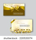 christmas greeting cards. could ... | Shutterstock .eps vector #220520374