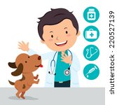 male veterinarian. vector... | Shutterstock .eps vector #220527139