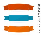 labels  tags  ribbons set in... | Shutterstock . vector #220530637