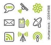 communication web icons  green... | Shutterstock .eps vector #22054588